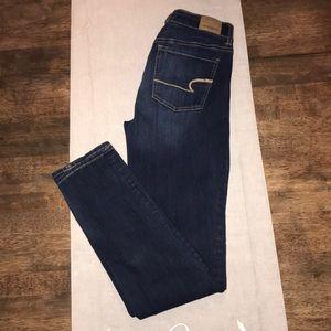 American Eagle High-Rise Straight Dark Wash Jeans